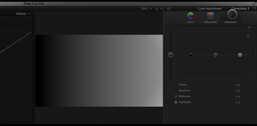 Understanding the FCP X Color Board Exposure Controls