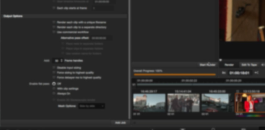 DaVinci Resolve: Working With 'Handles' While Color Correcting
