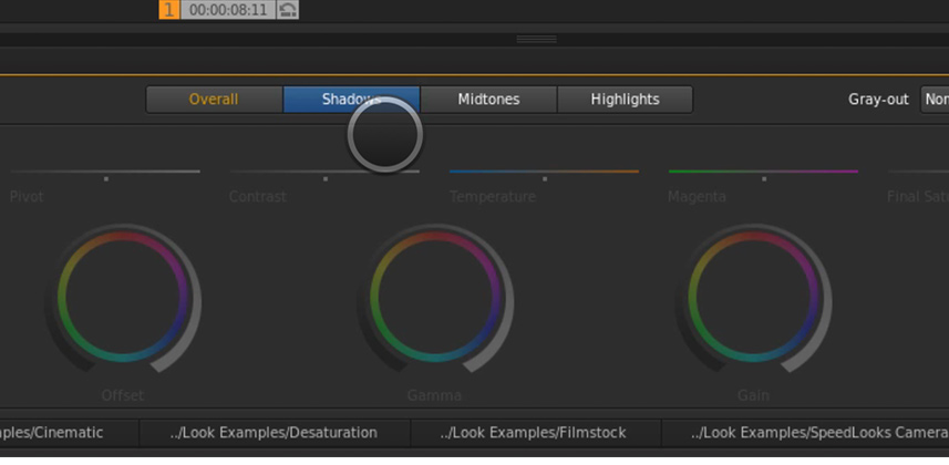 SpeedGrade Color Wheels – Localized Contrast