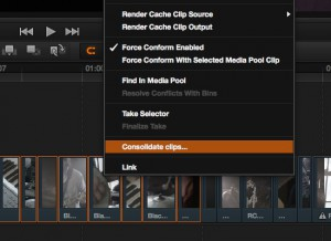 Is now called 'Consolidate Clips' in Resolve 11.1.1 and later