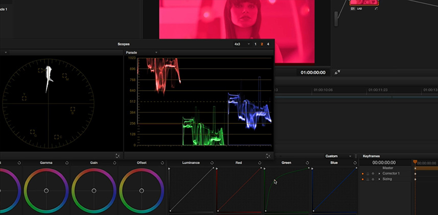 Color Correcting in LAB with DaVinci Resolve 11