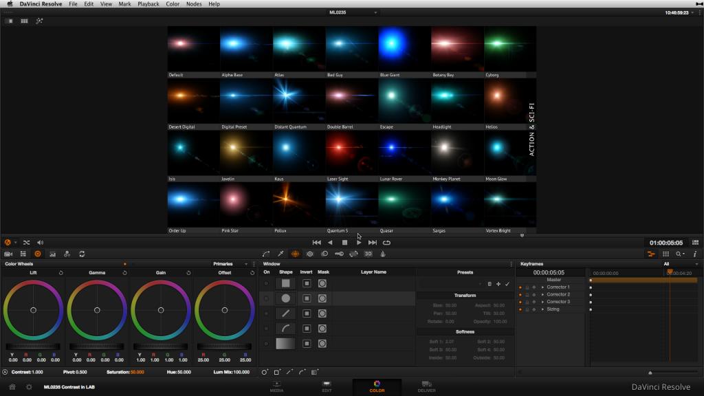 The Knoll Light Factory EZ preset browser