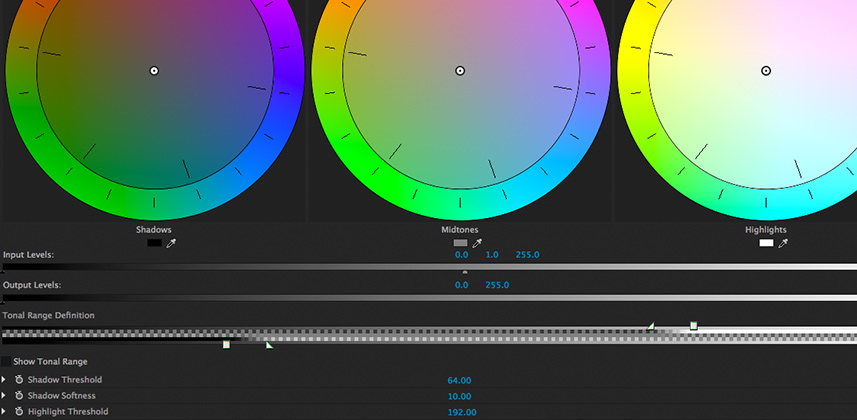 Getting Better Grades In Premiere Pro: The Tonal Range Definition