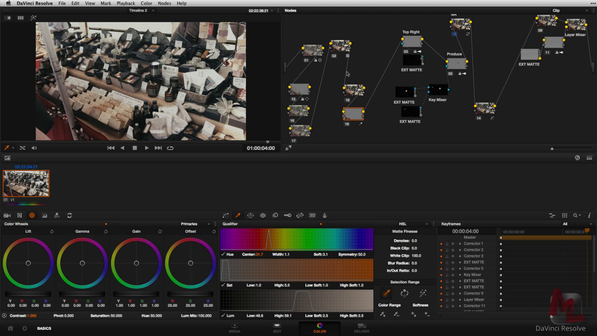 Advanced Node Operations for a Commercial Workflow in DaVinci Resolve