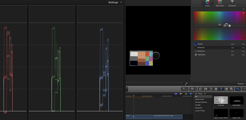 Final Cut Pro X Color Balance Precision