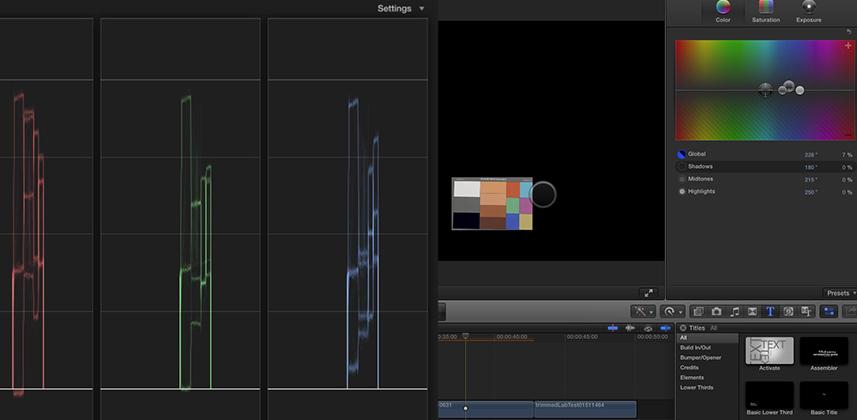 Final Cut Pro X Color Balance Precision