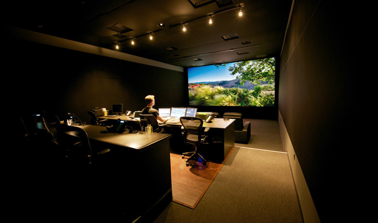 Anatomy Of A Grading Suite Design Wiremold Surface Wiring Furthermore Mounted Generally Speaking Projection Suites Need More Room This Di Theater From Our Pals At Chainsaw Is Great Balance Size And Comfort