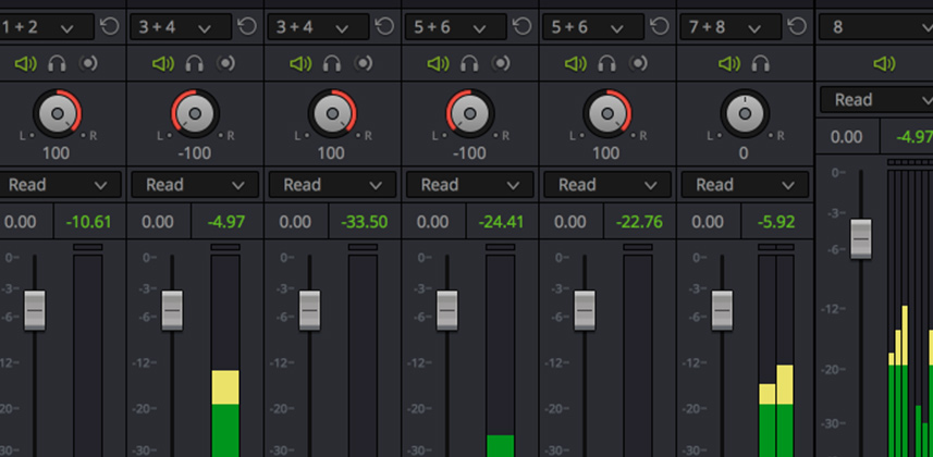 Delivering Multi-Channel Audio From Resolve