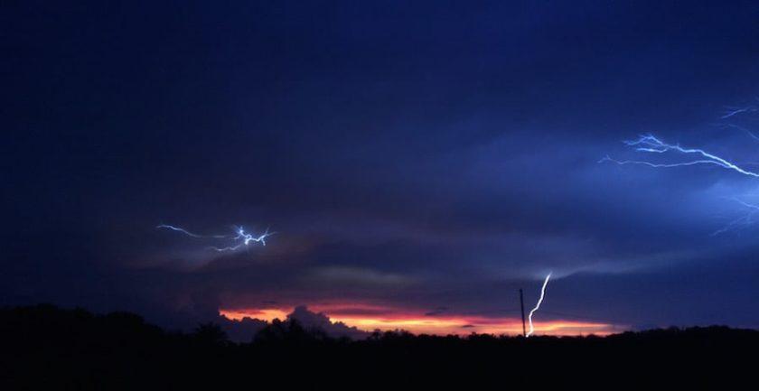 The evening Orlando sky