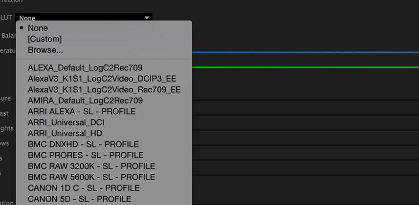 Adding Technical & Creative LUTS To The Lumetri Color Panel