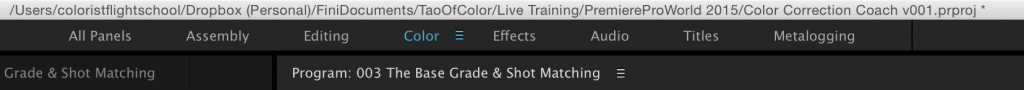 The Workspaces Toolbar in Premiere Pro CC 2015