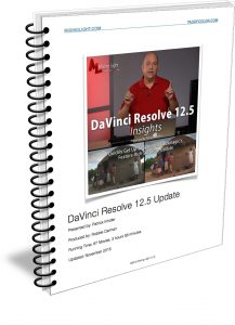 Resolve 12.5 Insights - Table of Contents