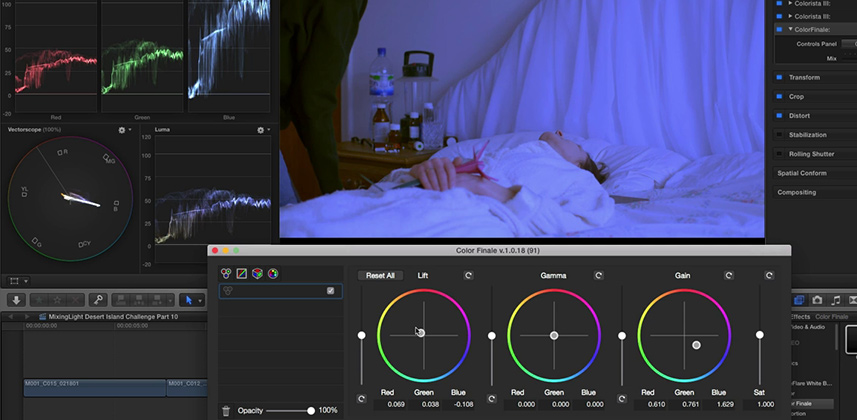 How to select a color correction plug-in for FCPX