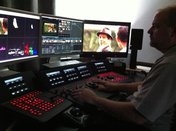 Patrick working on a DaVinci Resolve Colorist Control Surface