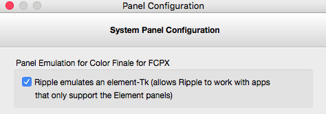 Uncheck this box to declare the Ripple itself (but some manual settings will be required)