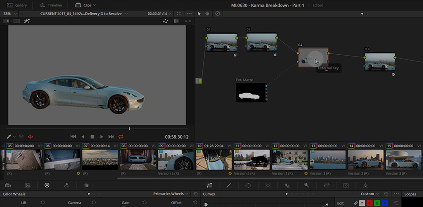 Working with External Mattes in DaVinci Resolve, Part 1
