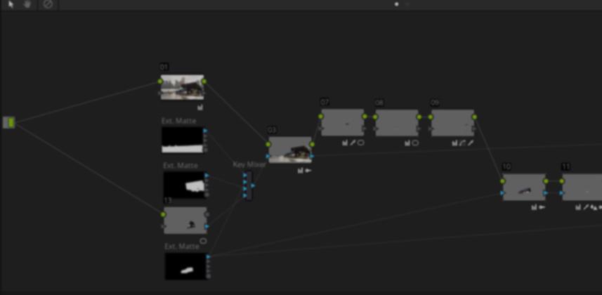 Using the Key Mixer in DaVinci Resolve