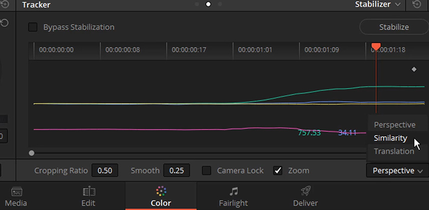 How To Use Resolve 14's New Stabilizer