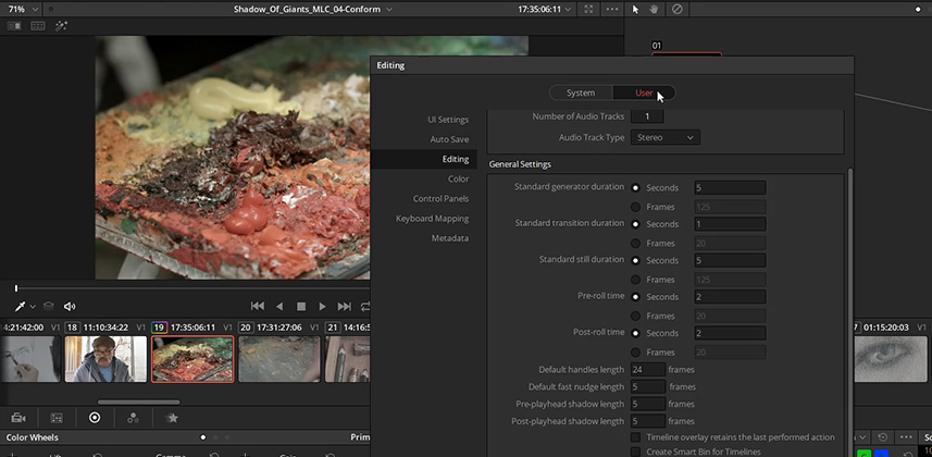 How DaVinci Resolve 14 Public Beta 7 has changed its preferences