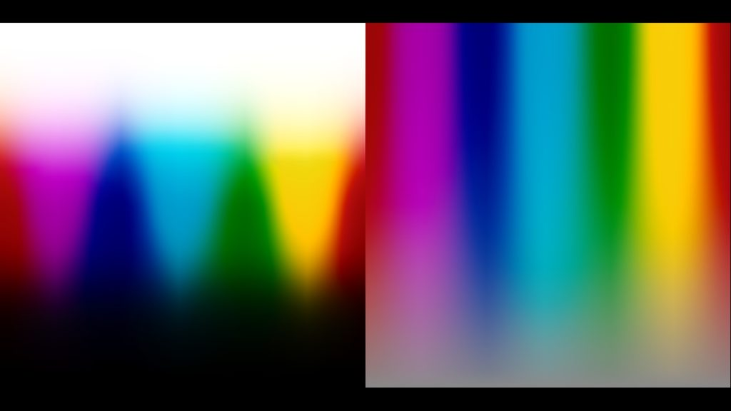 Smooth color gradient with Light Illusion film emulation LUT applied.