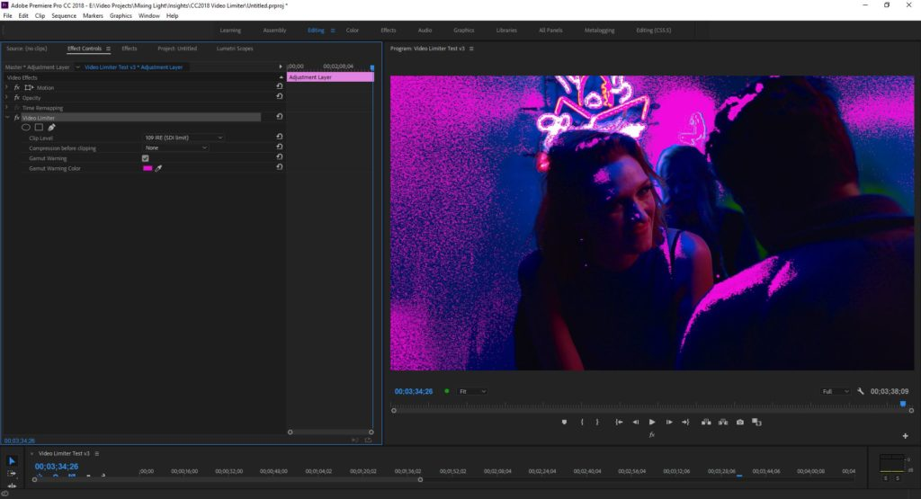 The new Gamut Warning false color feature is a handy addition, especially when you're in the creative phase.