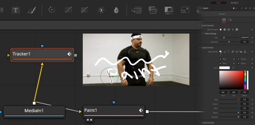 How To Paint, Track, and Remove A Logo In DaVinci Resolve 15's Fusion Page