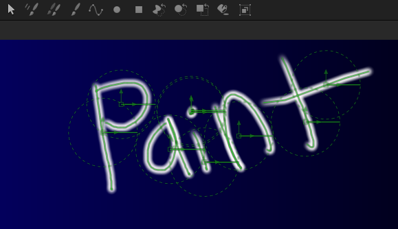Fusion's paint tool is vector based and non-destructive