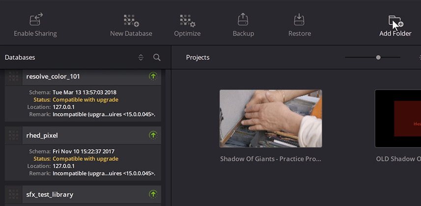 How to use the DaVinci Resolve Project Server App