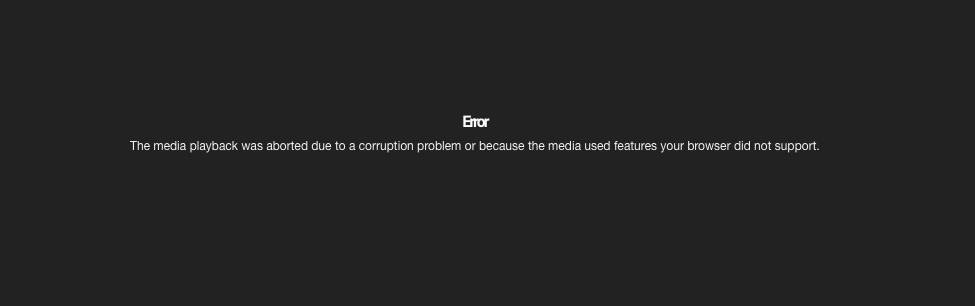 Error messages that Safari users are starting to report.