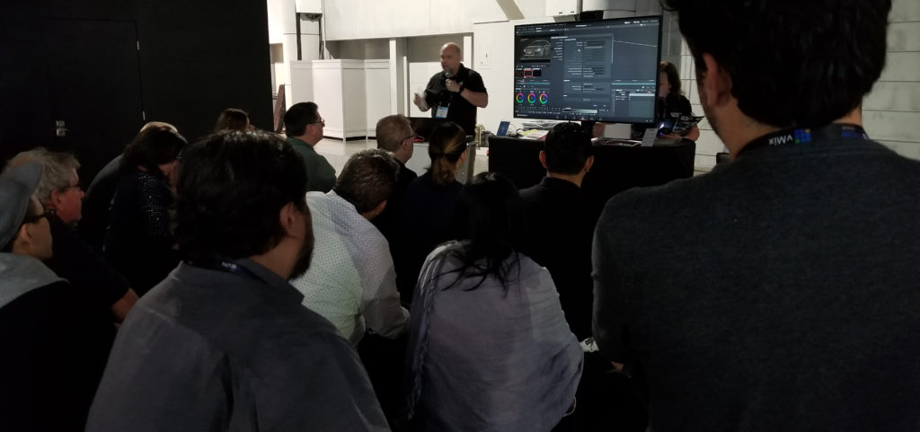 Patrick Inhofer at the Mixing Light Presentation Theater at NAB 2019
