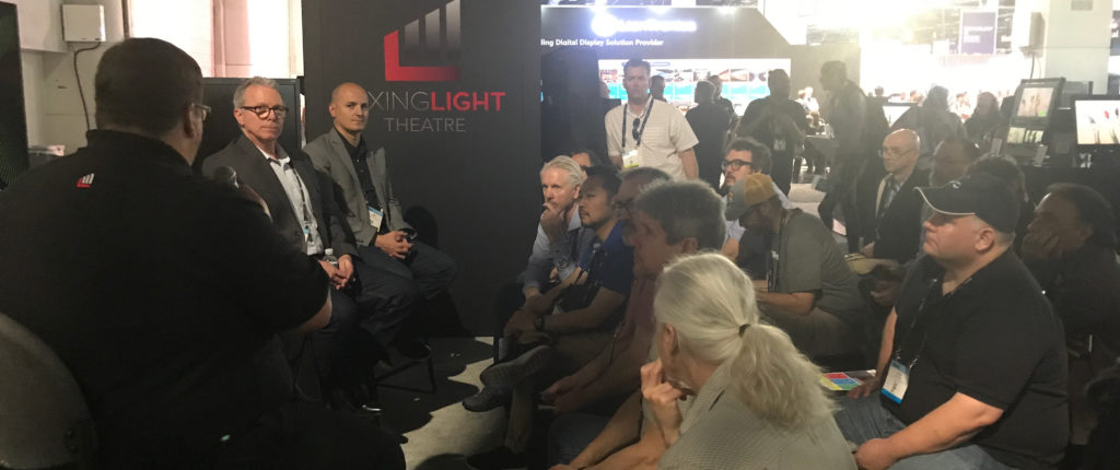 Robbie Carman hosts a discussion about HDR and Dolby Vision at NAB 2019