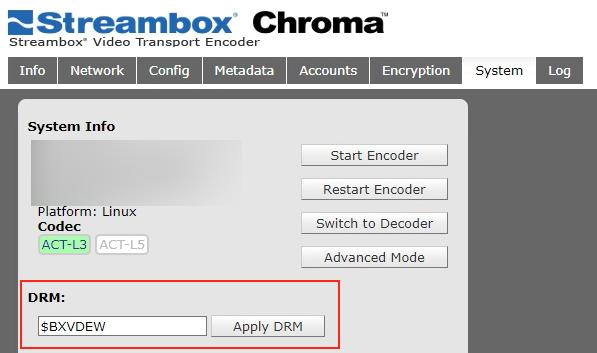 Streambox DRM