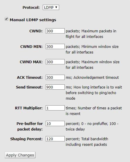 LDMP Settings