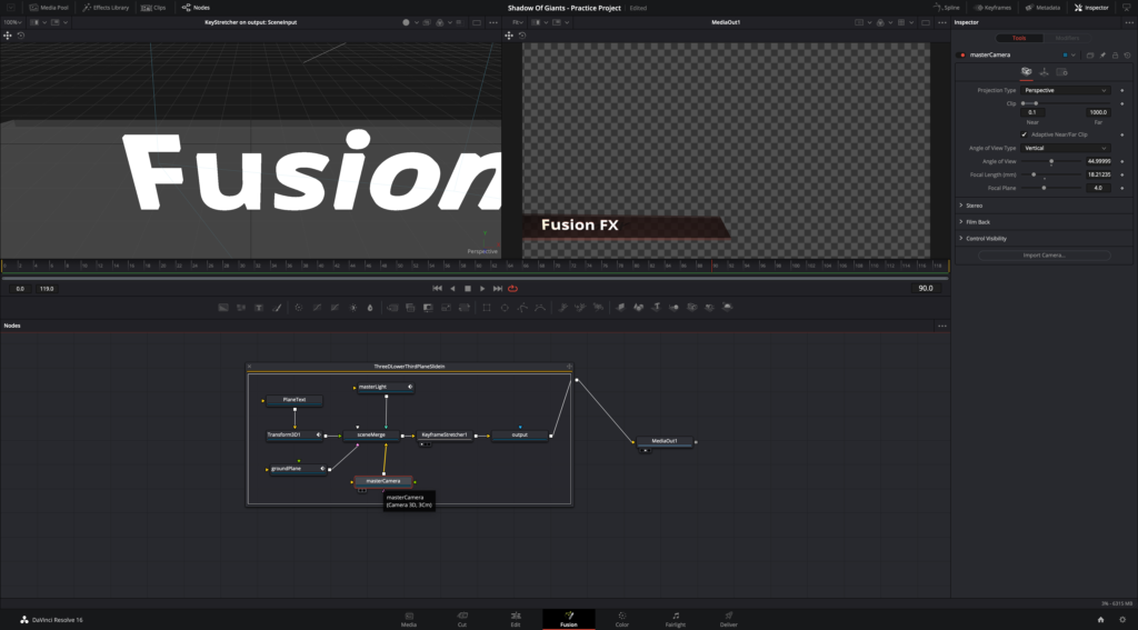 DaVinci Resolve Compositing Platform