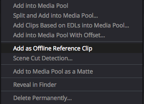 Add as Offline Reference